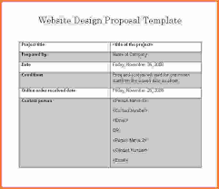 7 web design proposal template sales report template