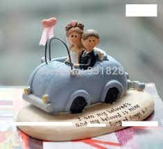 car wedding cake toppers buy cheap wedding cake toppers decorations and bridegroom