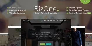 bizone one page parallax by themesindustry themeforest