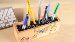 Pen Organizer by Superwnetrze Pl Organizer Z Drewna Bambusowego Na Biurko Quirky