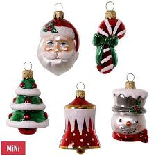 symbols of the season premium mini glass ornaments set of 5