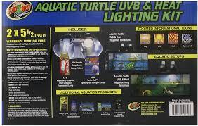 Zoo Med Light Fixture by Zoo Med Aquatic Turtle Uvb U0026 Heat Lighting Kit Chewy Com