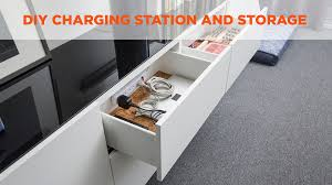 charging station and storage video diy