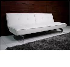 Tufted Faux Leather Sofa cheap faux leather sofa bed futon with chrome feet