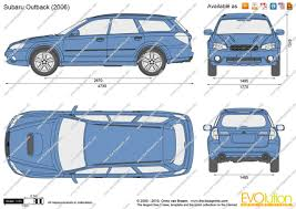 teal subaru outback the blueprints com vector drawing subaru outback