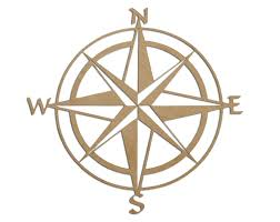 Map Rose Compass Rose 24 Diameter Nautical Map Nsew North