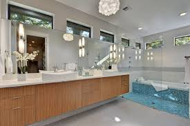 austin contemporary pendant lighting bathroom with white vessel