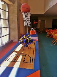 basketball centerpieces bar mitzvah setting the mood