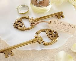 bottle opener wedding favors key to my heart antique gold key bottle opener