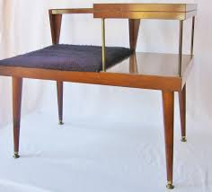 mid century entry table mid century modern table telephone table bench danish modern