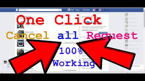 how to cancel all pending facebook friend request one click 100