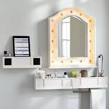 light up full length mirror light up beauty mirror and shelves