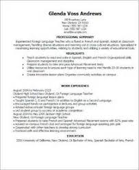 language teacher cover letter examples resume employment history