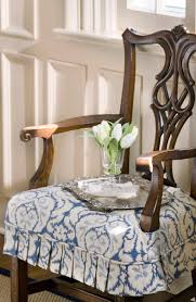 dining room chair seat slipcovers custom chair seat slipcover with pleated skirt photo by bob
