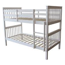 White Pine Bunk Beds Living Co Pine Wood Bunk Bed White The Warehouse