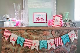 bicycle decorations home red aqua pink bicycle birthday party airplane travel air