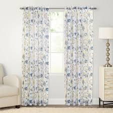goods for life mabel floral crushed voile window curtain