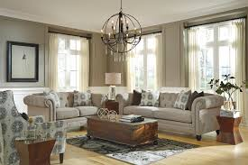 Transitional Chesterfield Sofa With LinenBlend Fabric By - Chesterfield sofa and chairs