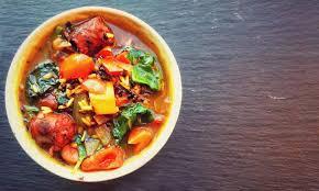 black rice chicken sausage veggie crock pot soup further food