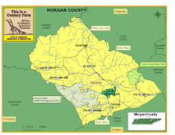 Map Of Tennessee State Parks by Morgan County Tennessee Century Farms
