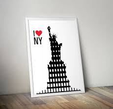 i love new york statue of liberty printable art suitable for
