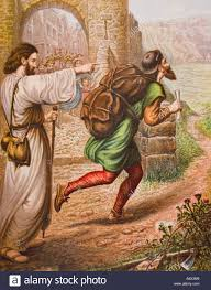 the pilgrims book evangelist directs christian on his way from the book the pilgrim