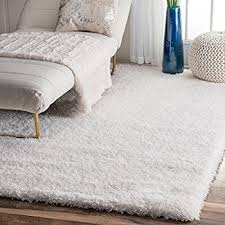Fuzzy Area Rug Amazon Com Ivory White Shag Rug 5 Feet By 8 Feet 5x8 Stain