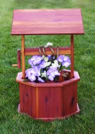 wishing well planter amish furniture crafts