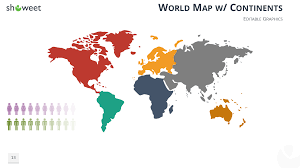 Simple Vector World Map by Demographic Infographics For Powerpoint And Keynote