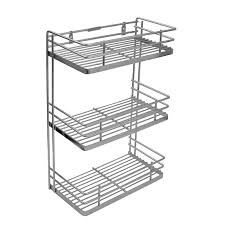 6 inch spice rack cabinet perdiem triple front shelf spice rack kitchen basket 6 inch ss
