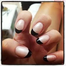 27 black french tip nail designs tips french tip nail art design