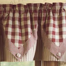 country curtains york wine check york wine point valance