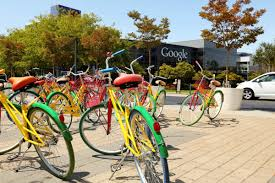 here are the crazy colorful bikes google employees ride around