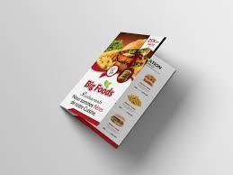 Beautiful Menu Beautiful Bi Fold Restaurant Menu Design Psd