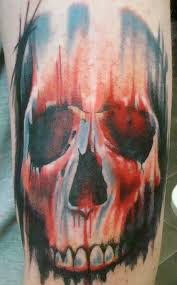 scary blue and skull tattoomagz
