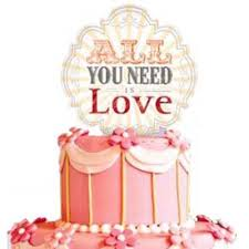 all you need is cake topper jumbo bridal shower cake topper all you need is