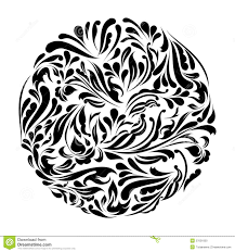 monochrome black and white lace ornament vector stock vector