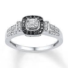 black diamond promise ring jewelers diamond promise ring 1 5 ct tw black white sterling