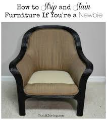 How To Paint Wooden Chairs by How To Strip Furniture And Stain It Thrift Diving Blog