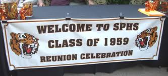 high school reunion banners south pasadena high school class of 1959 50 year reunion page