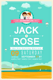 Invitation Card Download Wedding Day Cartoon Invitation Card Vector Free Download Free