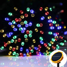 solar string lights outdoor 72 ft 200 led waterproof fairy