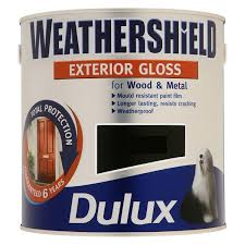 dulux weathershield exterior gloss 750ml teal ripple amazon co uk
