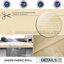 fabric l shades for hurricane ls amazon com windscreen4less beige sunblock shade cloth 95 uv