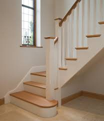 Stairs Hallway Ideas by White Oak Staircases 2 Paint Out Some Of The Oak In White