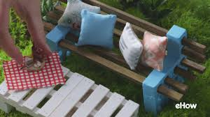 how to make a tiny simple outdoor bench youtube