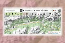 st map maps st anton am arlberg and neighbouring villages