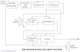 pir sensor based security system circuit diagram working applications