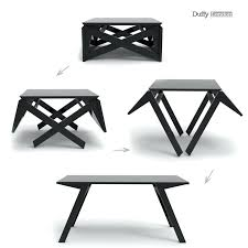 fold out coffee dining table transforming coffee dining table mini morphs from console to space