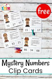 place value mystery number mystery number clip cards the stem laboratory